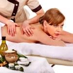 Woman getting spa lastone therapy — Stock Photo #49278019