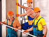 Men in builder uniform. — Stock Photo