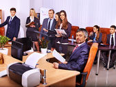 Group business people in office. — Stock Photo