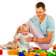 Children play building blocks. — Stock Photo #49736763