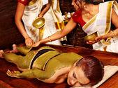 Woman having body massage. — Stock Photo