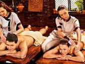 Couple having spa treatment. — Stock Photo