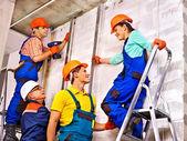 Builders in uniform. — Stock Photo
