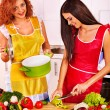 Women at kitchen. — Stock Photo #51158637
