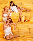 Women  in sauna. — Stock Photo