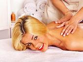 Woman getting massage. — Stock Photo