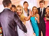 Wedding people dance — Stock Photo