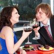Couple on date in restaurant. — Стоковое фото #5188623