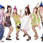Happy group of celebrate birthday. . — Stock Photo #6409473