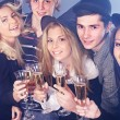 Group young drinking champagne. — Stock Photo #6724881