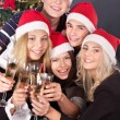 Group young drink champagne. — Stock Photo #6724901