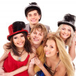 Group young in party hat. — Stock Photo #6725009