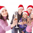 Group young in santa hat. Isolated. — Foto de Stock   #7893518