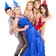 Group of young in party hat. — Stock Photo #7893540