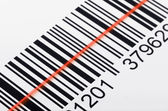 Scanning barcode — Stock Photo