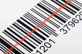 Scanning barcode — Stock Photo