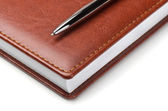 Notebook with pen — Foto de Stock