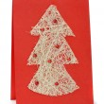 Handmade christmas card — Stock Photo