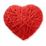 Woolen heart — Stock Photo