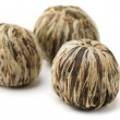 Green tea balls — Stockfoto