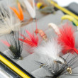 Fly fishing flies — Stock Photo