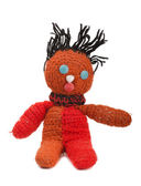 Knitted doll — 图库照片
