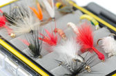 Fly fishing flies — Stock Photo
