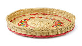 Wicker tray — Stock Photo