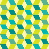 Seventies green seamless — Stock Vector