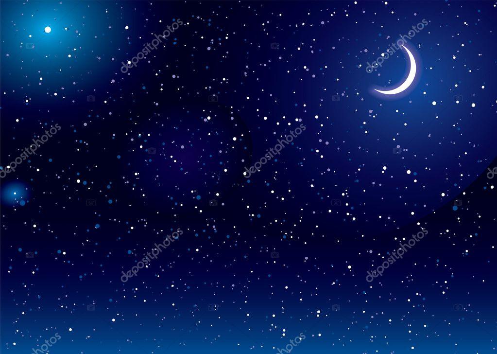 星星月亮矢量图-设计-大手图库