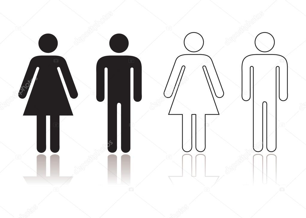 Símbolo de banheiro — Vetor de Stock © Nicemonkey #13738446 -> Banheiro Feminino Simbolo