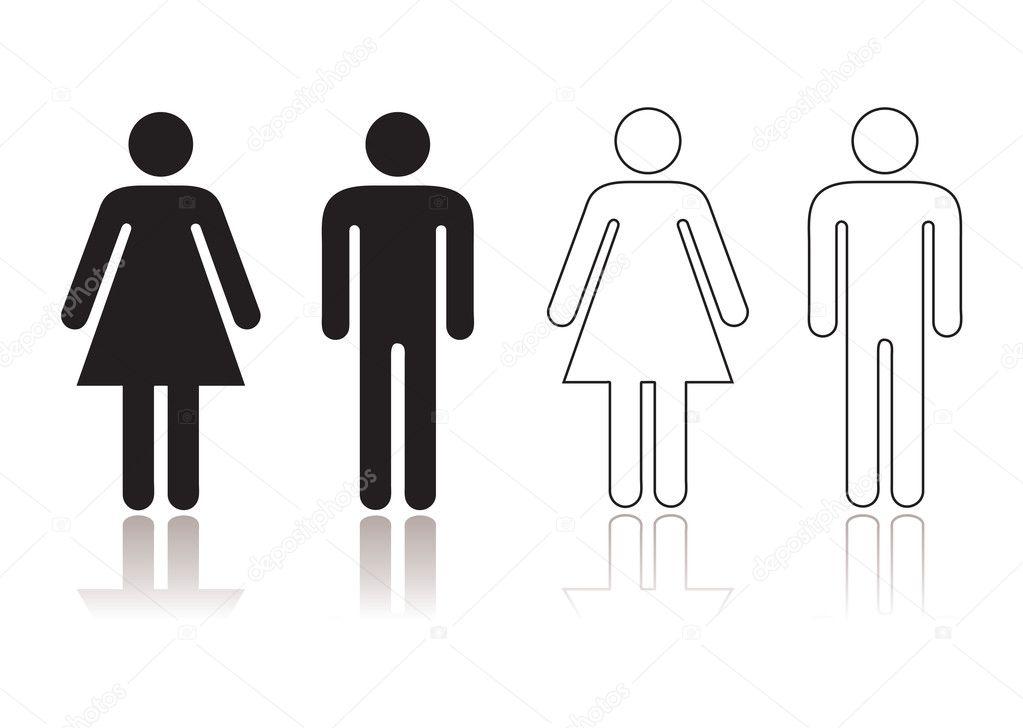 Símbolo de banheiro — Vetor de Stock © Nicemonkey #13738446 -> Símbolo Banheiro Feminino