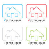 House icon outline set — Stock Vector