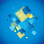 Cuadrado azul — Vector de stock