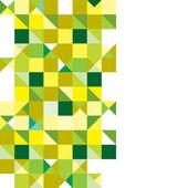Triangle green tricolour — Stock Vector