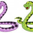 Stock Vector: The snake symbol in 2013