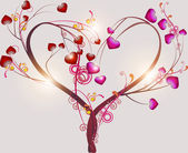 Abstract tree symbolizing love — Stock Vector