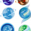Royalty-Free Stock Vector Image: Globe,the earth\'s rotation,the atmosphere