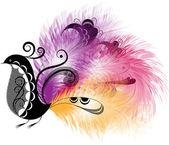 Decorative bird — Stock Vector