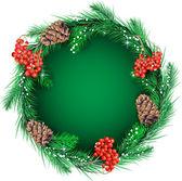 テキストのためのクリスマスの花輪 — ストックベクタ