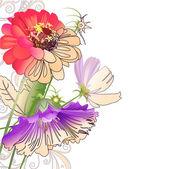 Composição abstrata floral — Vetorial Stock