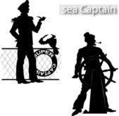 Sea Captain — Stock Vector
