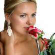 Royalty-Free Stock Photo: Woman with red rose