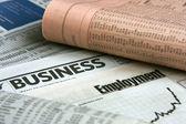 Business newspaper — Stock Photo