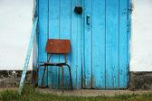 Chair front door — Stock Photo