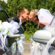 Passionate married couple kissing — Stock Photo