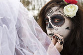 Trucco di halloween — Foto Stock