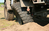 Damaged wheel truck — Stock Photo