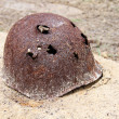 Rusty military helmet — Stock Photo