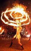 огненное шоу — Стоковое фото